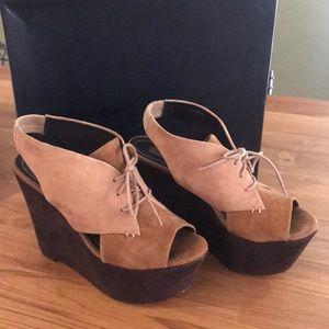 Report Signature platform suede shoes